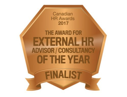 2017 Canadian HR Awards Finalist – External HR Consultancy of the Year
