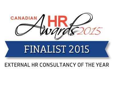Canadian HR Awards 2015 - Finalist - External HR Consultancy of the Year